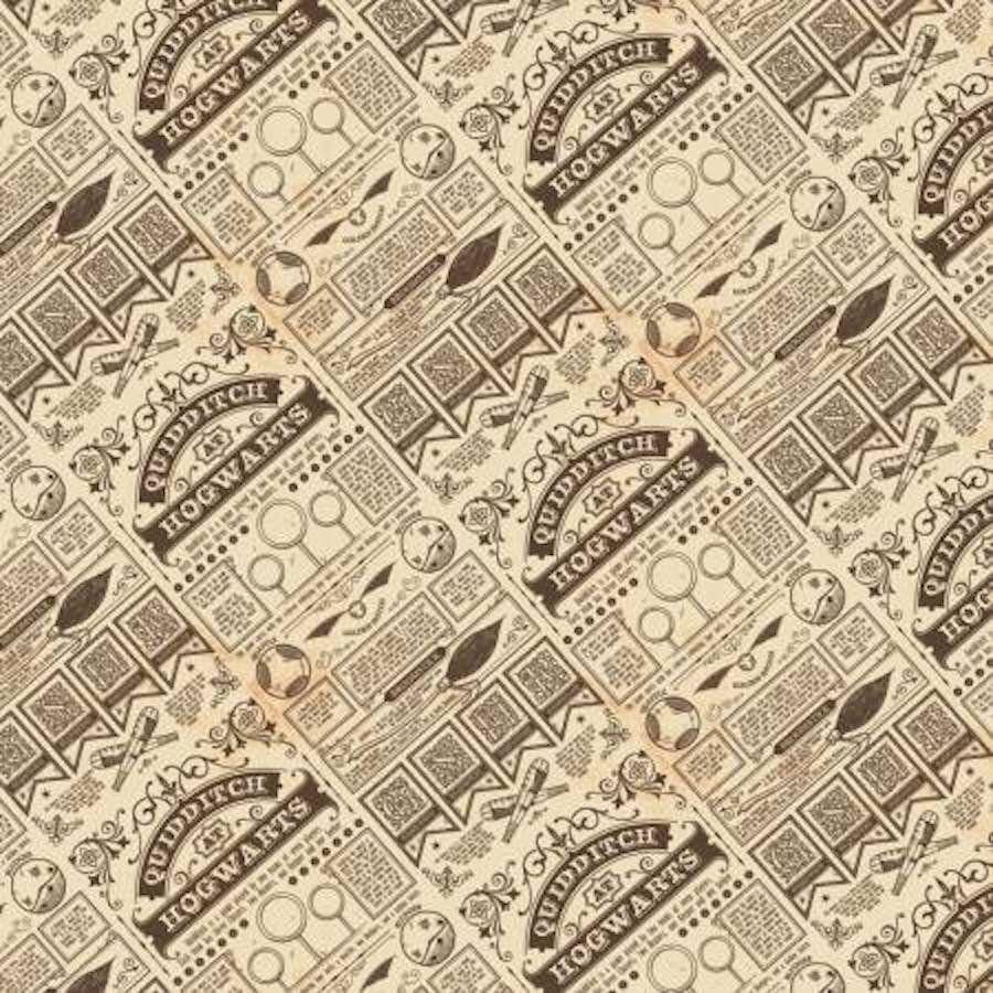 Newsprint By The Yard TheFabricEdge Harry Potter Fabric HP Newspaper