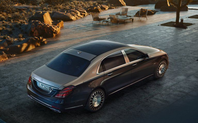 Mercedes Benz The Mercedes Maybach S Class X 222 The S 650 With V12 Biturbo Engine And Two Tone Paintwork In Aragonite S Mercedes Maybach Maybach Mercedes