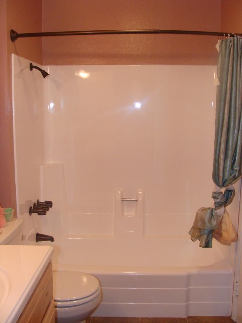 new tub and shower unit. PKB Reglazing  Fiberglass Bathtub Shower Unit Reglazed White