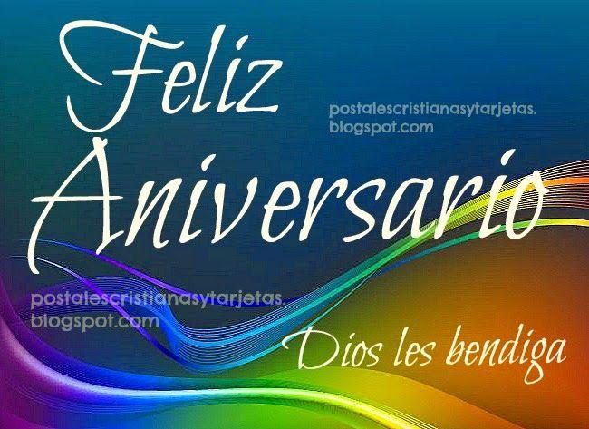Tarjeta Postal Feliz Aniversario De Bodas Para Felicitar A