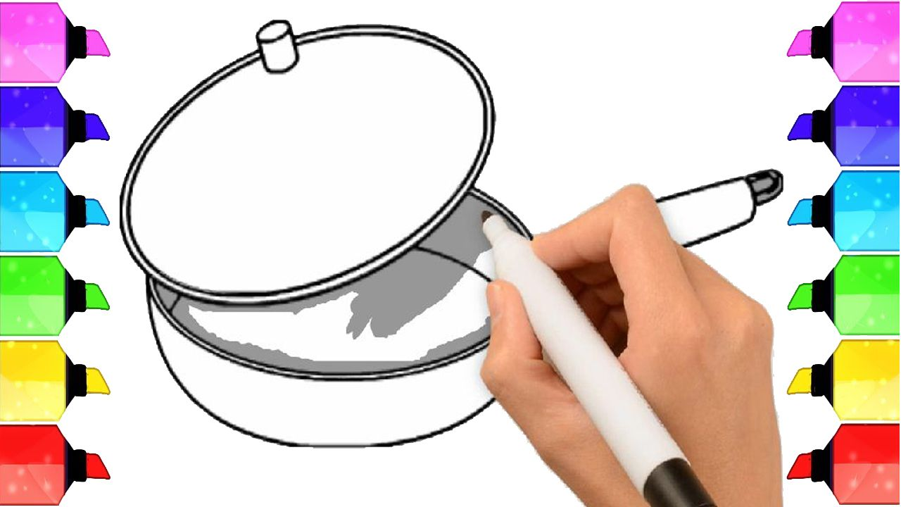 How To Draw A Pot Cooking Pot Easy Draw Tutorial Cooking Pot