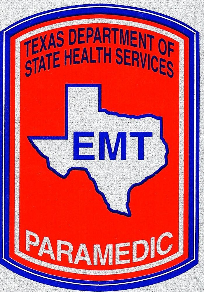 TEXAS PARAMEDIC REFLECTIVE EMT DECAL Texas Department of