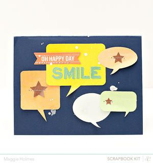 Smile Card by maggie holmes - Studio Calico April Kits