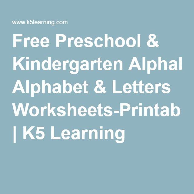 Free Preschool & Kindergarten Alphabet & Letters Worksheets ...
