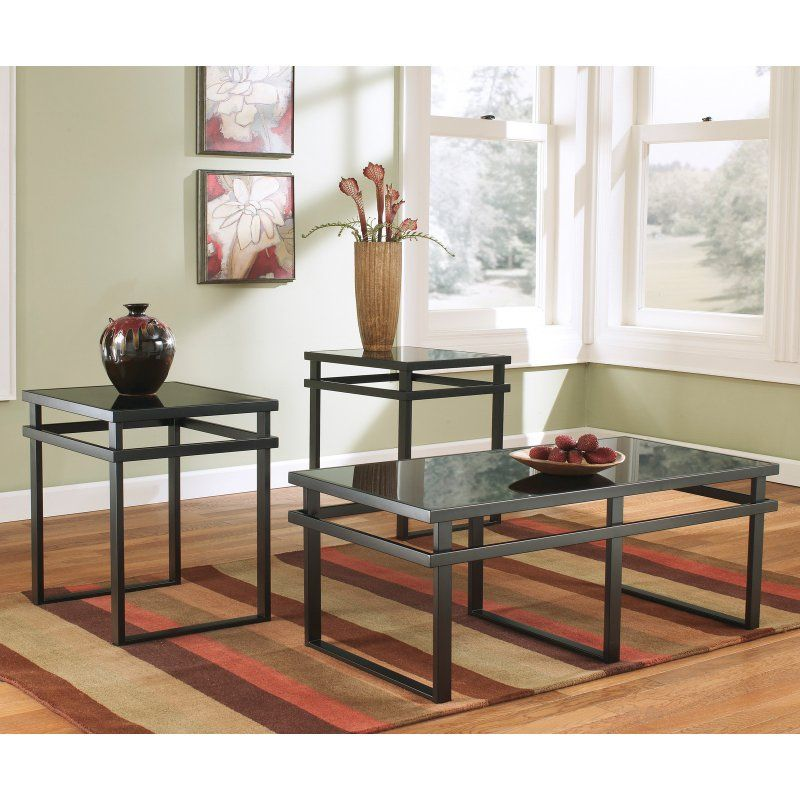 Signature Design By Ashley Laney Black Occasional Table Set Of 3