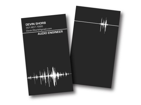 sound engineer business card cerca con google business card design dj business cards - Engineer Business Card