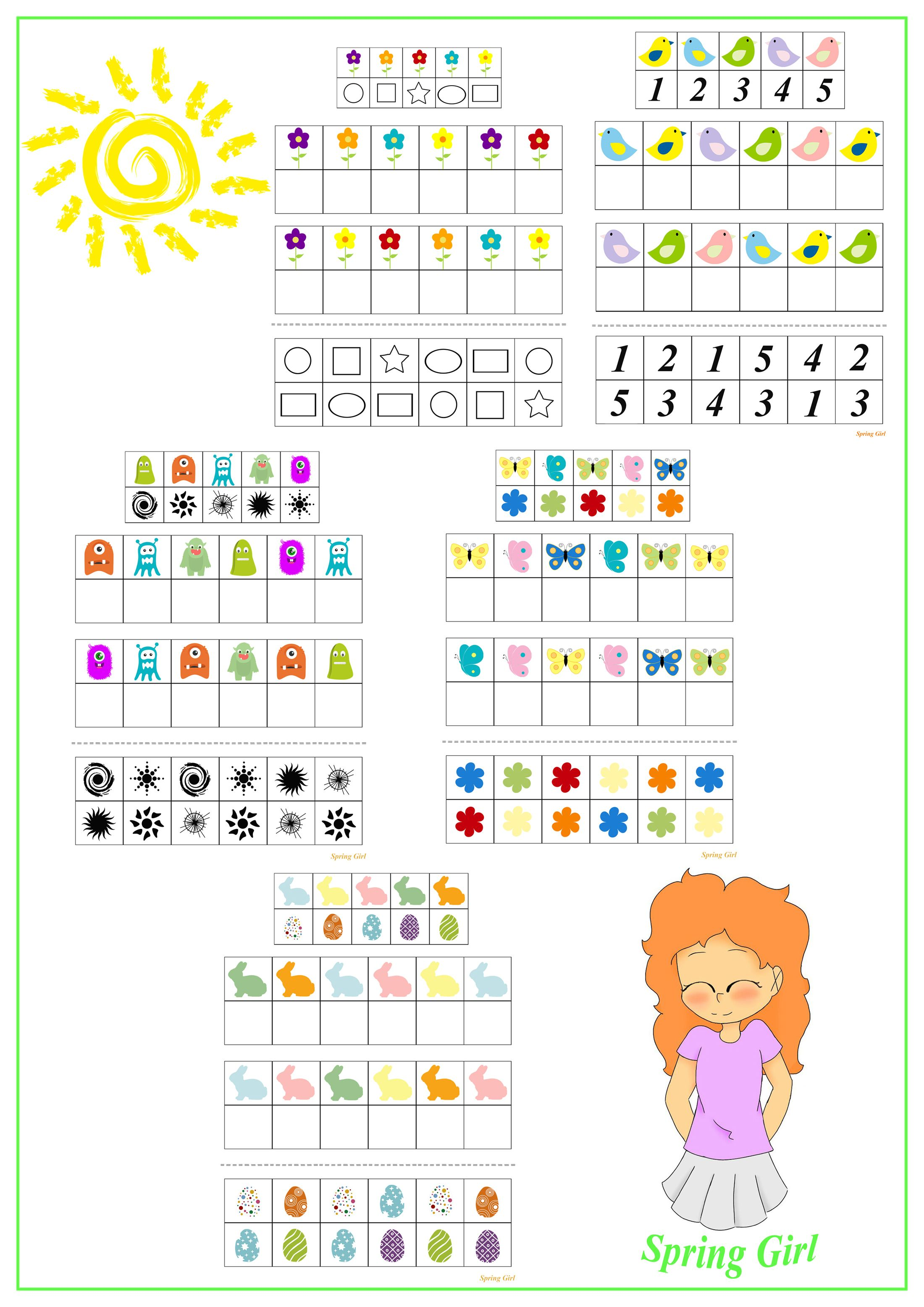 Spring Logic Activities For Kids In
