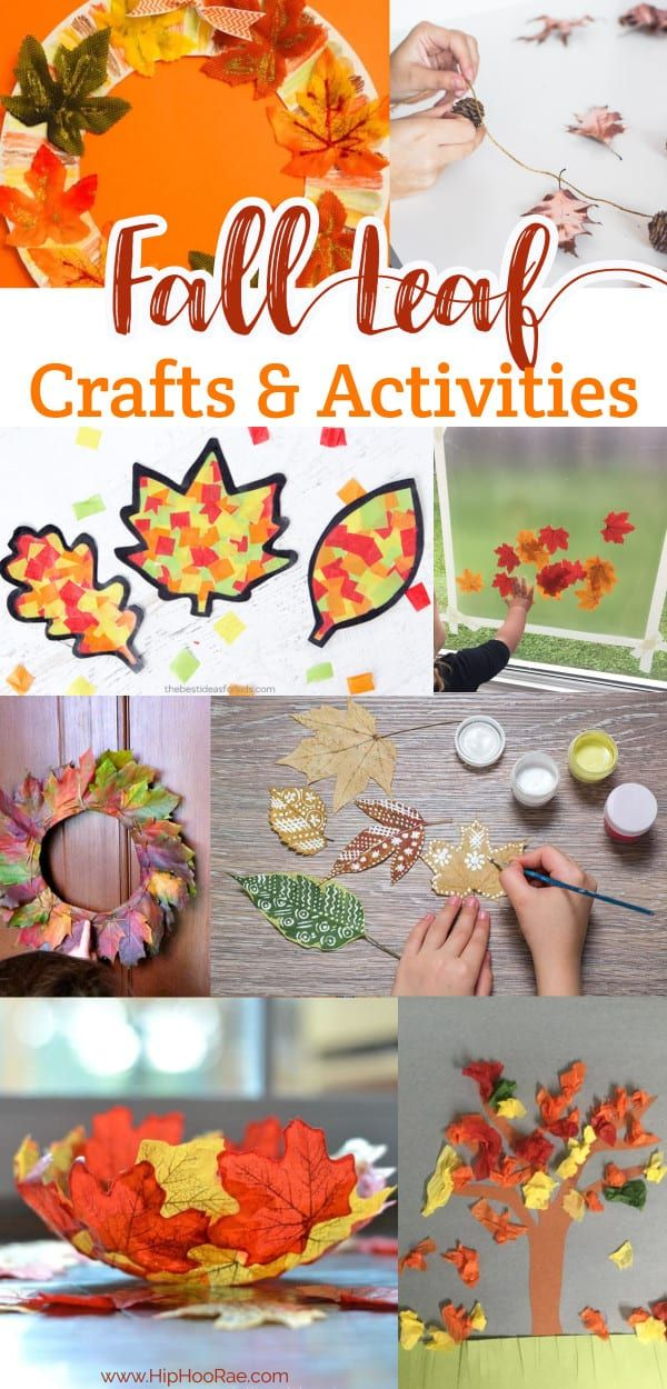 Fall Leaf Crafts and Activities For Kids #leafcrafts