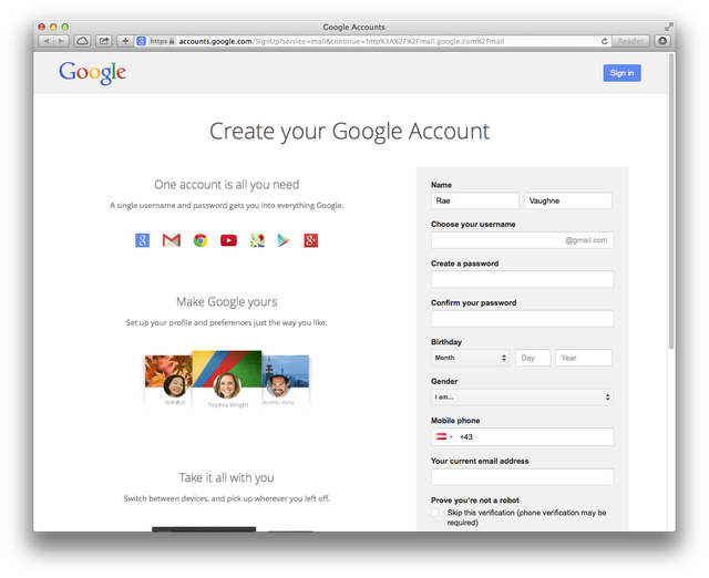 How to Open a Gmail Account