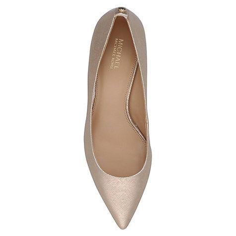 3f0d8c868f3 MICHAEL Michael Kors Flex Pump Kitten Heeled Court Shoes, Navy   J ...
