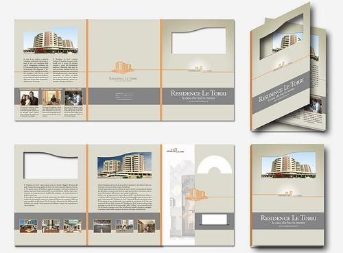apartment brochure template design this attractive brochure layout was created for newly built residence