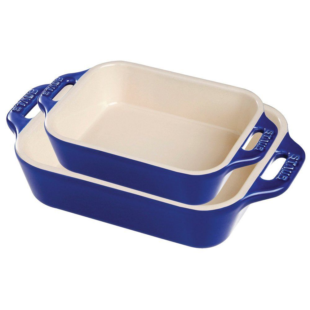 Staub Ceramic 2 Pc Rectangular Baking Dish Set Dark Blue Click Image For More Details Baked Dishes Baking Dish Set Ceramic Baking Dish