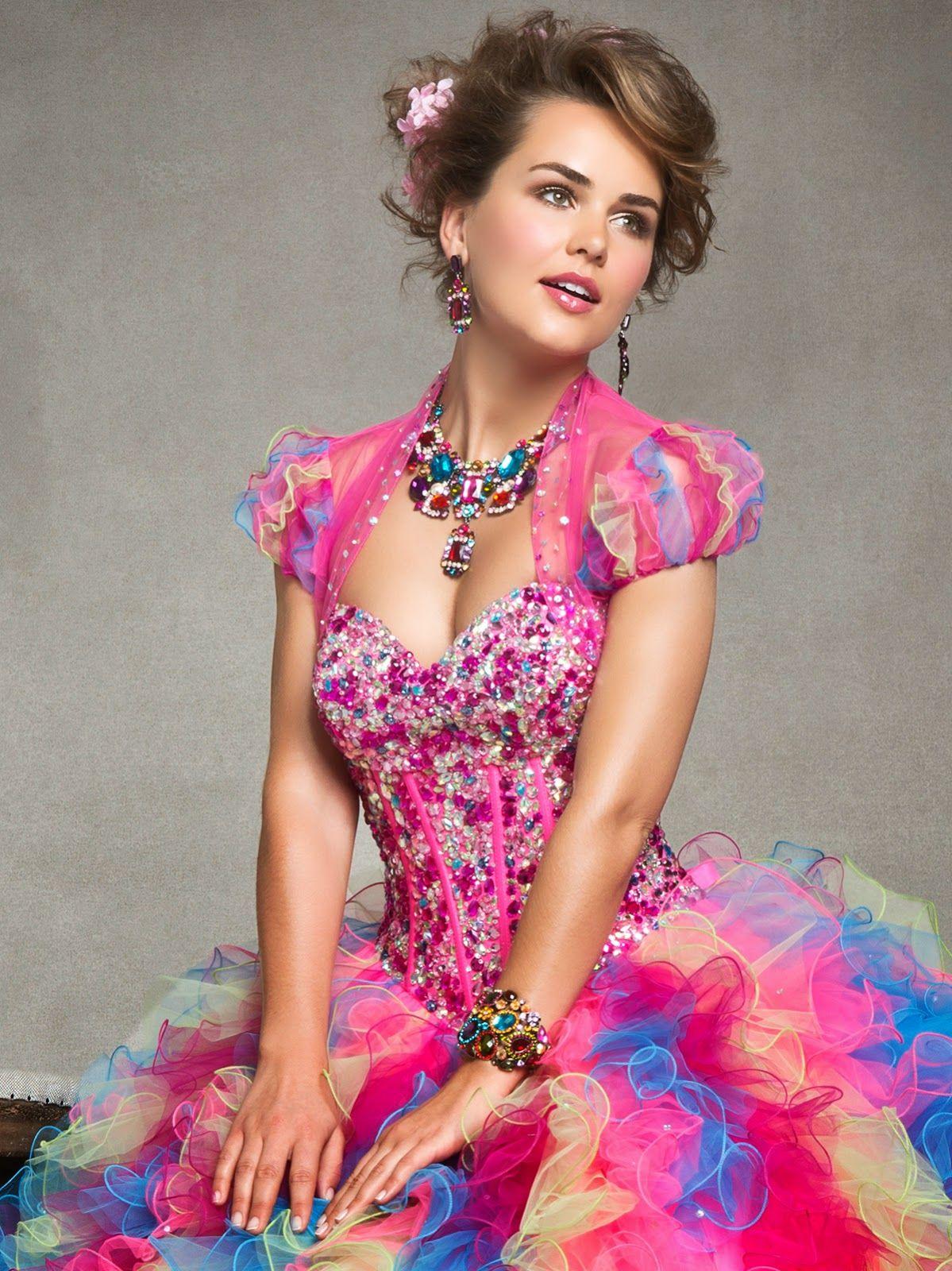 Lindos vestidos de 15 años | Moda y Tendencias | Fiesta arco iris ...