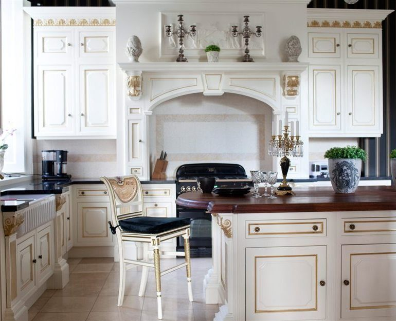 Beautiful Kitchen llon Baroque Castle Sweden Beautiful