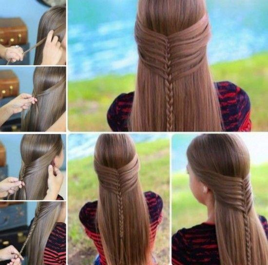Mermaid Half Braid Tutorial | Hairstyles | Pinterest | Half braid ...
