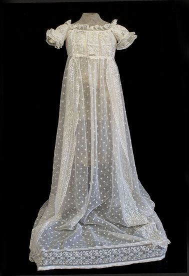 Hand-embroidered christening dress, c.1820, from the Vintage Textile ...