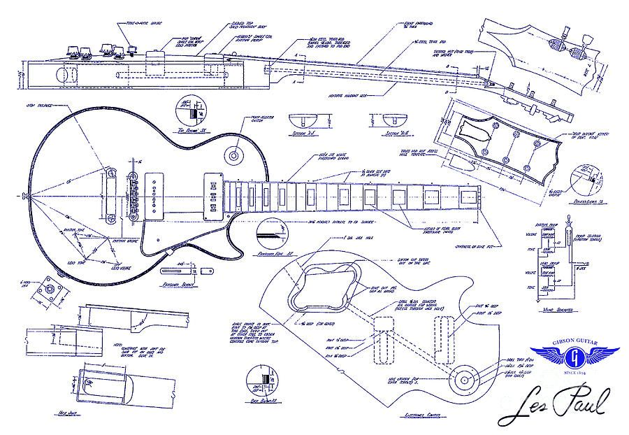 Gibson les paul blueprint drawing drawing by jon neidert projek gibson les paul blueprint drawing drawing by jon neidert malvernweather