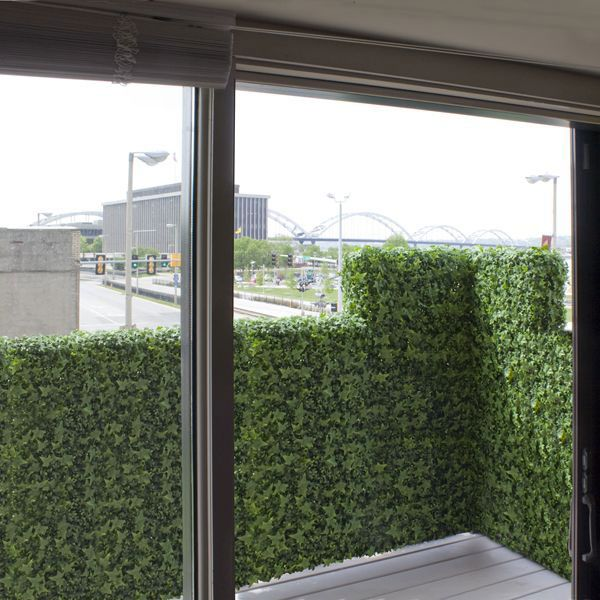 Artificial Ivy Balcony Rail Hedge Privacy Screen at Home ...