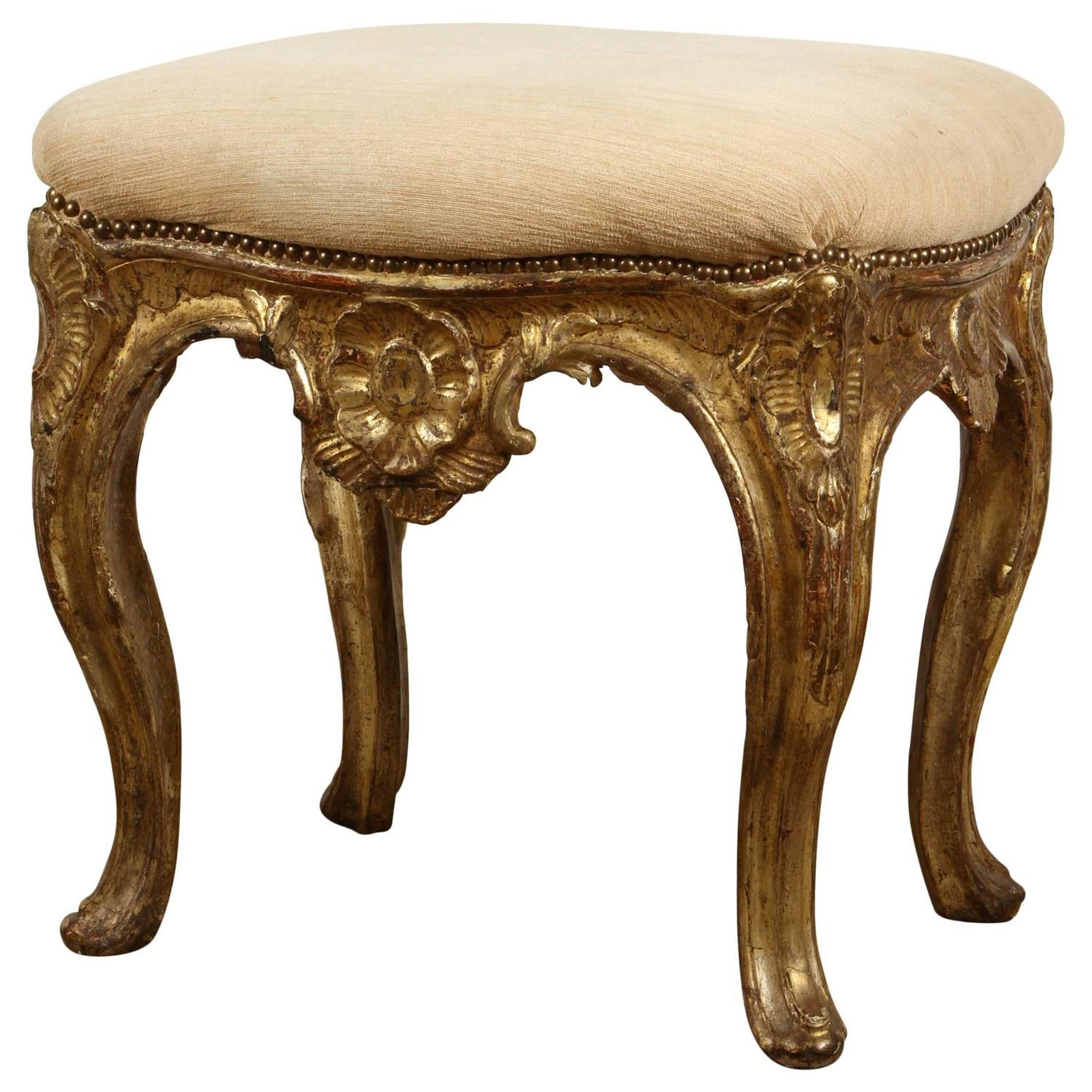 Sensational 19Th Century French Gilded Louis Xvi Carved Stool In 2019 Caraccident5 Cool Chair Designs And Ideas Caraccident5Info