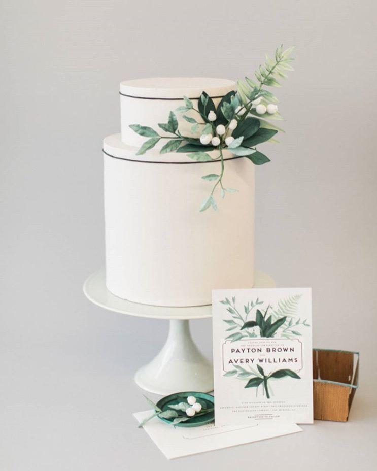 white and green wedding cake cake for the bride in 2019 rh pinterest com