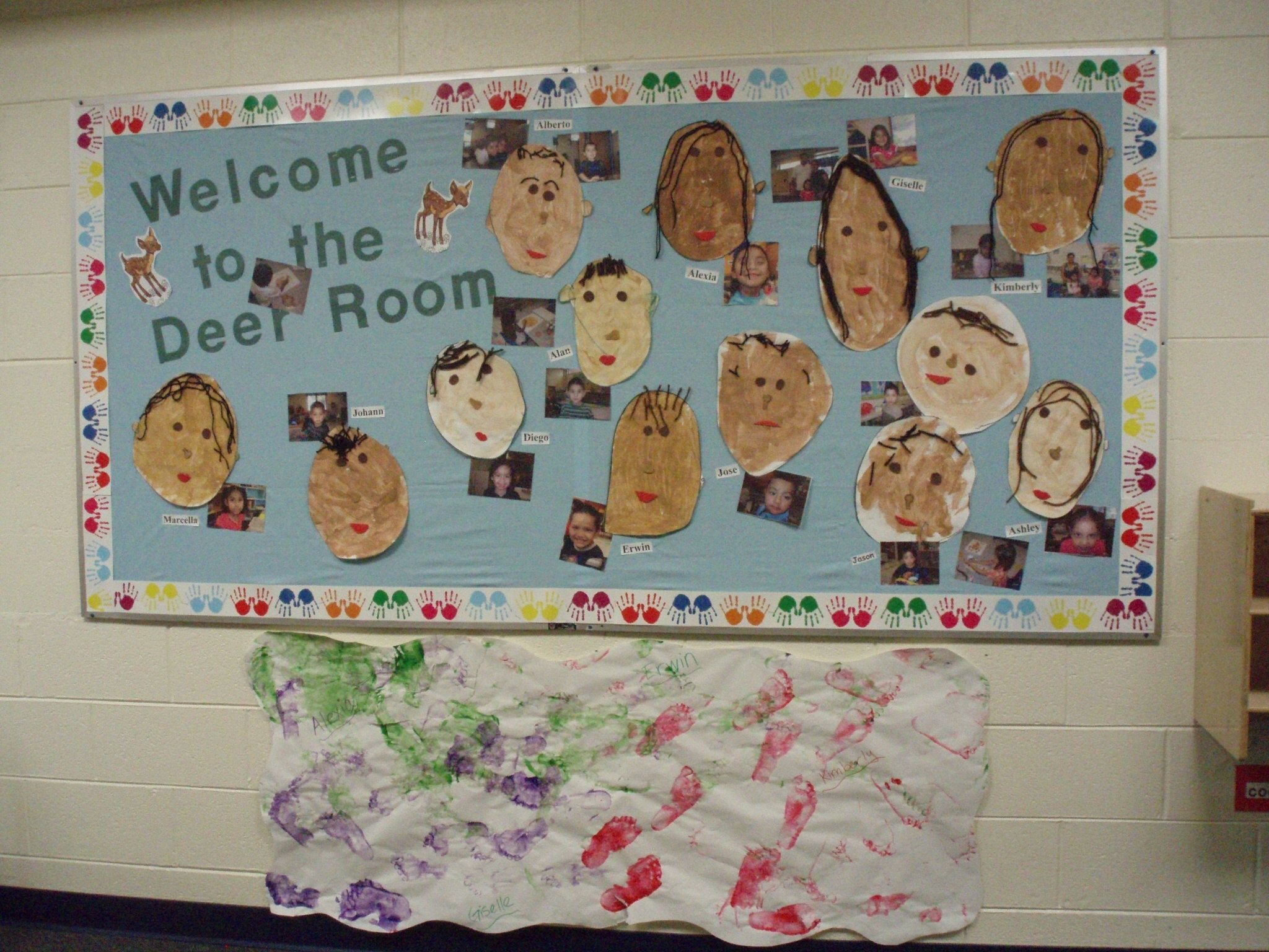 Multicultural Paint Activity And Bulletin Board Display