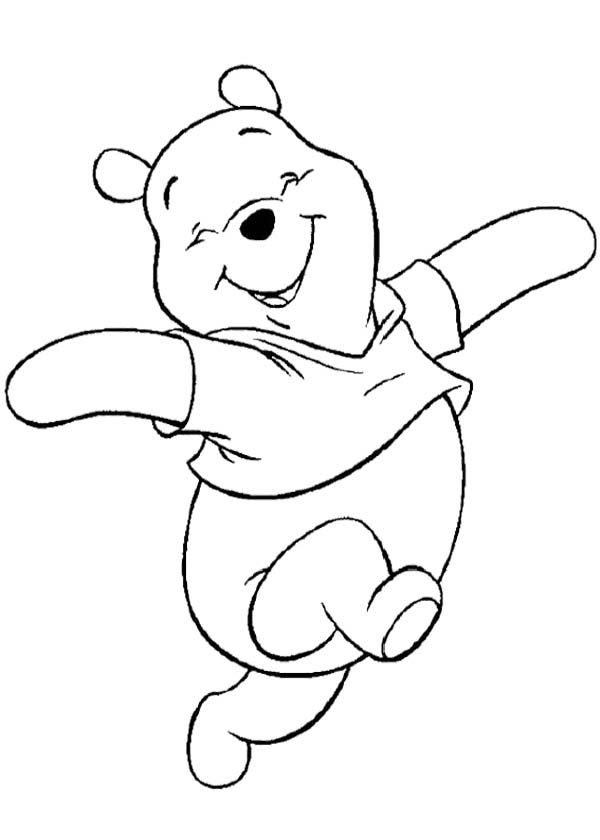 Winnie The Pooh Having Fun Coloring Page (for baby\'s wall ...