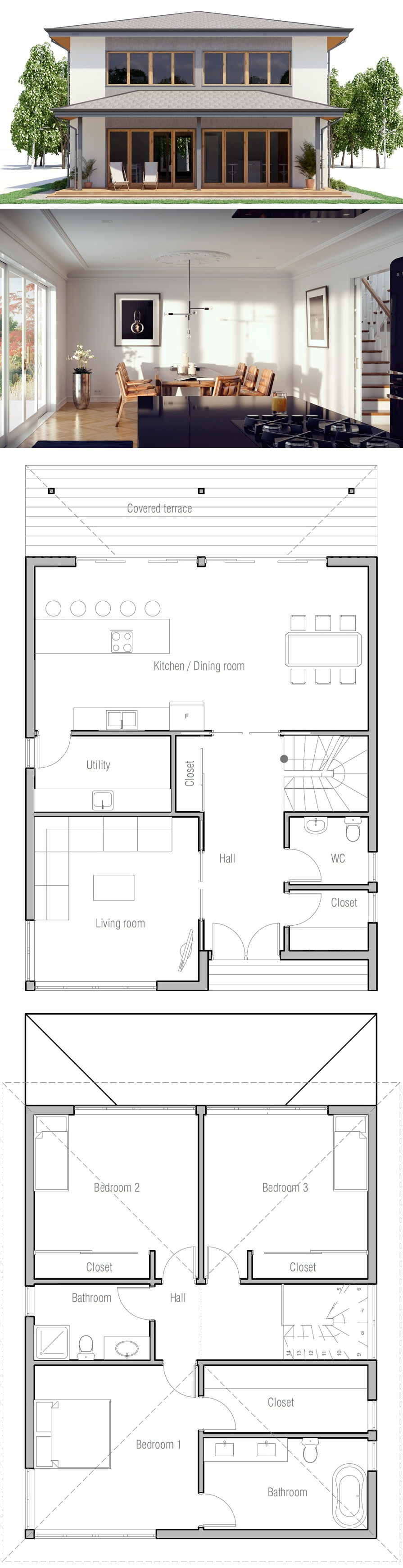 small house plan exterior homes and architecture in 2018 rh pinterest com