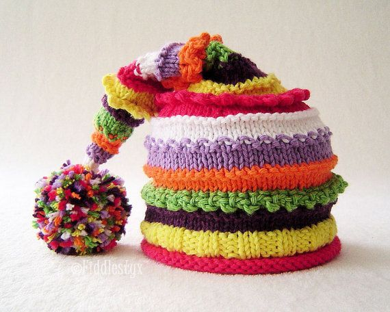 Hand Knitted Baby Hat - Hand Knitted Childrens Hat - Girls Knit Hat ...