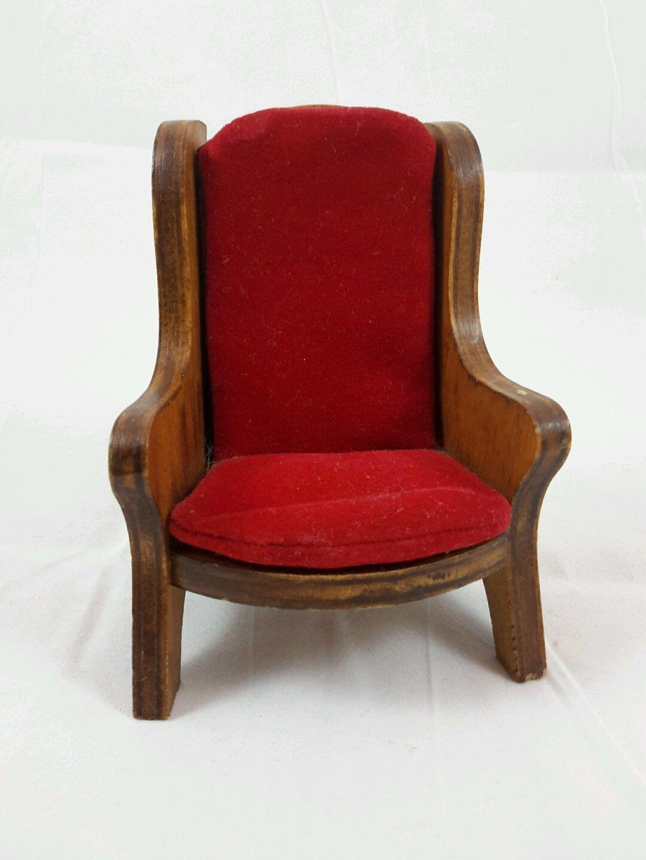 vintage 1 12 hall s lifetime toys red velvet arm chair ebay rh pinterest com