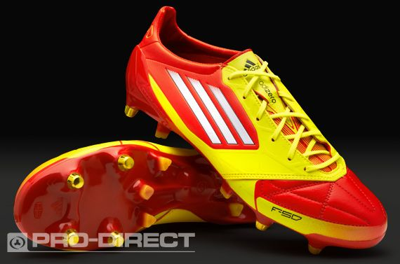 a97f9e053c4e adidas Football Boots - adidas F50 adiZero XTRX SG Leather - Soft Ground - Soccer  Cleats - High Energy-White-Electricity