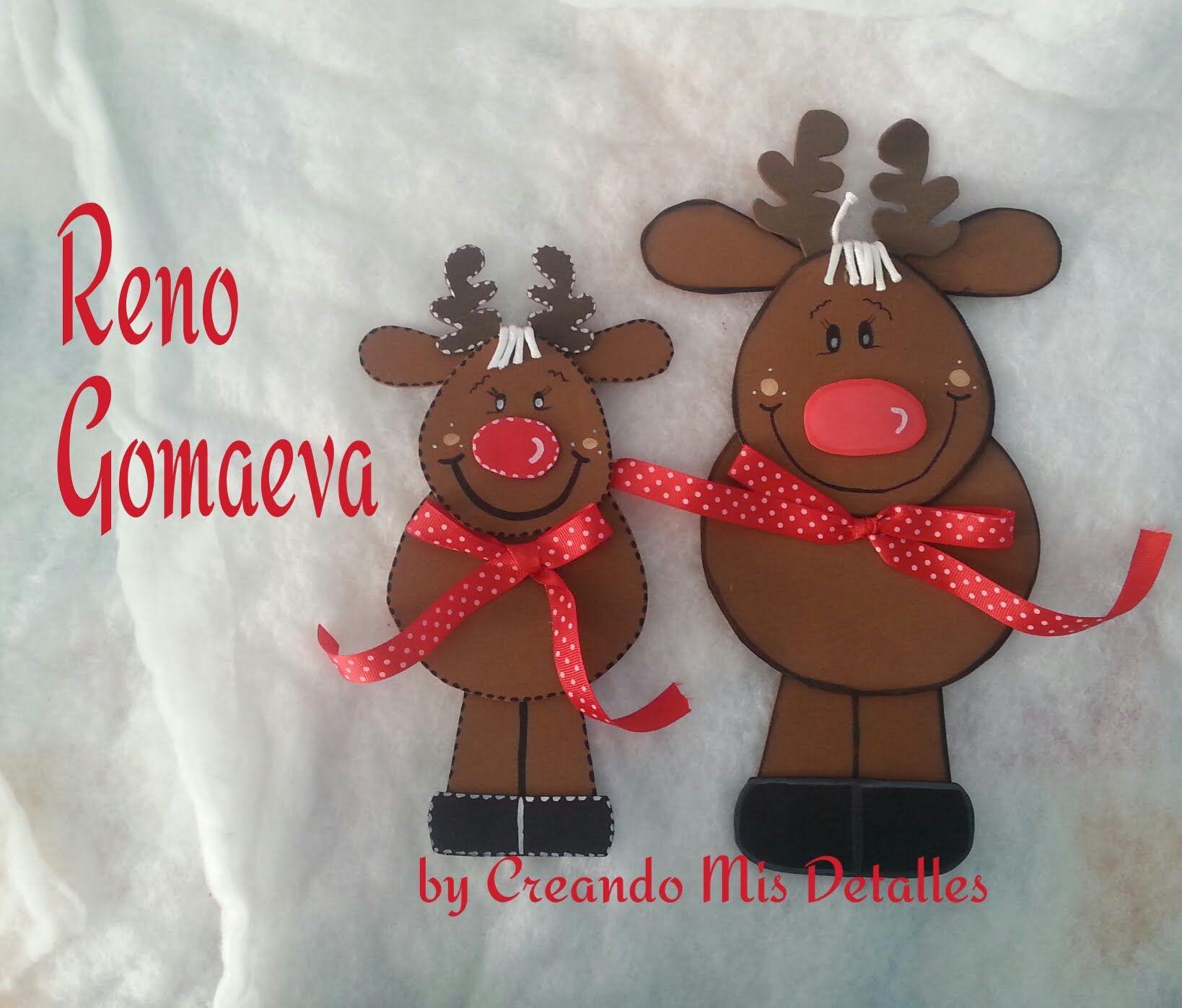 Reno navide o hecho con gomaeva r pido y f cil sant - Decoracion navidad goma eva ...