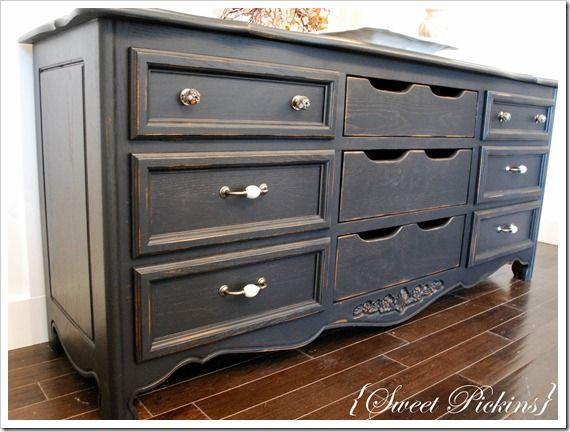 Refinished Dresser Refinish