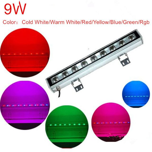 9 Watts Outdoor Lamp Led Flood Light Ip65 Led Wall Washer Lamp Ac 12v 24v Ac85 265v White Red Yellow Blue Green Rgb Wall Washer Led Flood Lights Led Flood Outdoor Lamp