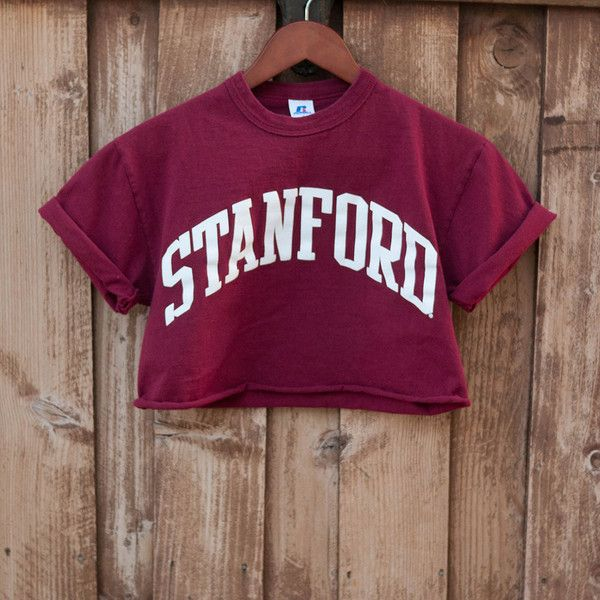 8a26dd9b Stanford Tee College Tshirt 90s Shirt Crop Top Cropped T Shirt Boxy... (