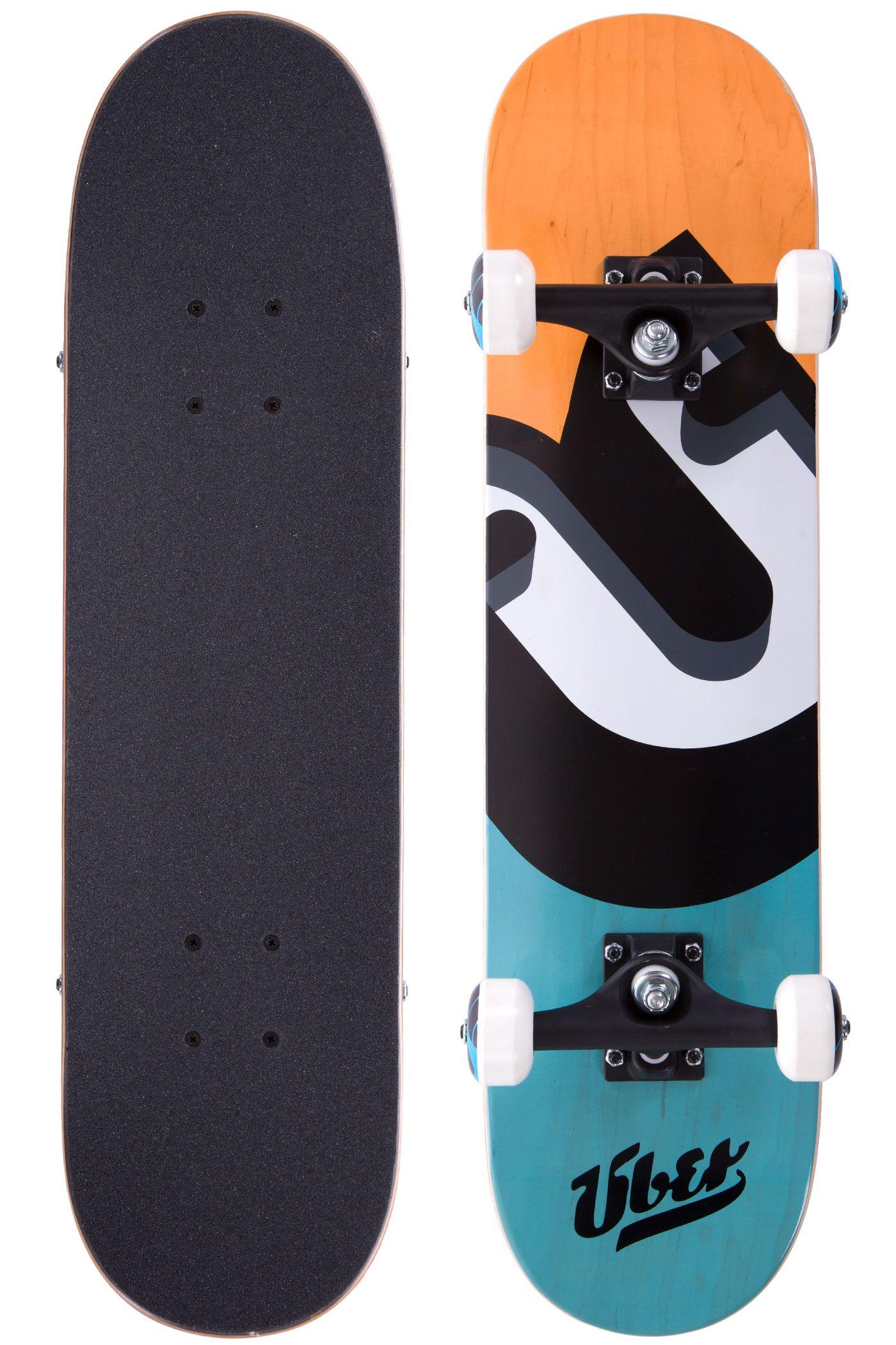 """Über Skateboards No Surprise 7"""" Board-Complète (orange turquoise)"""