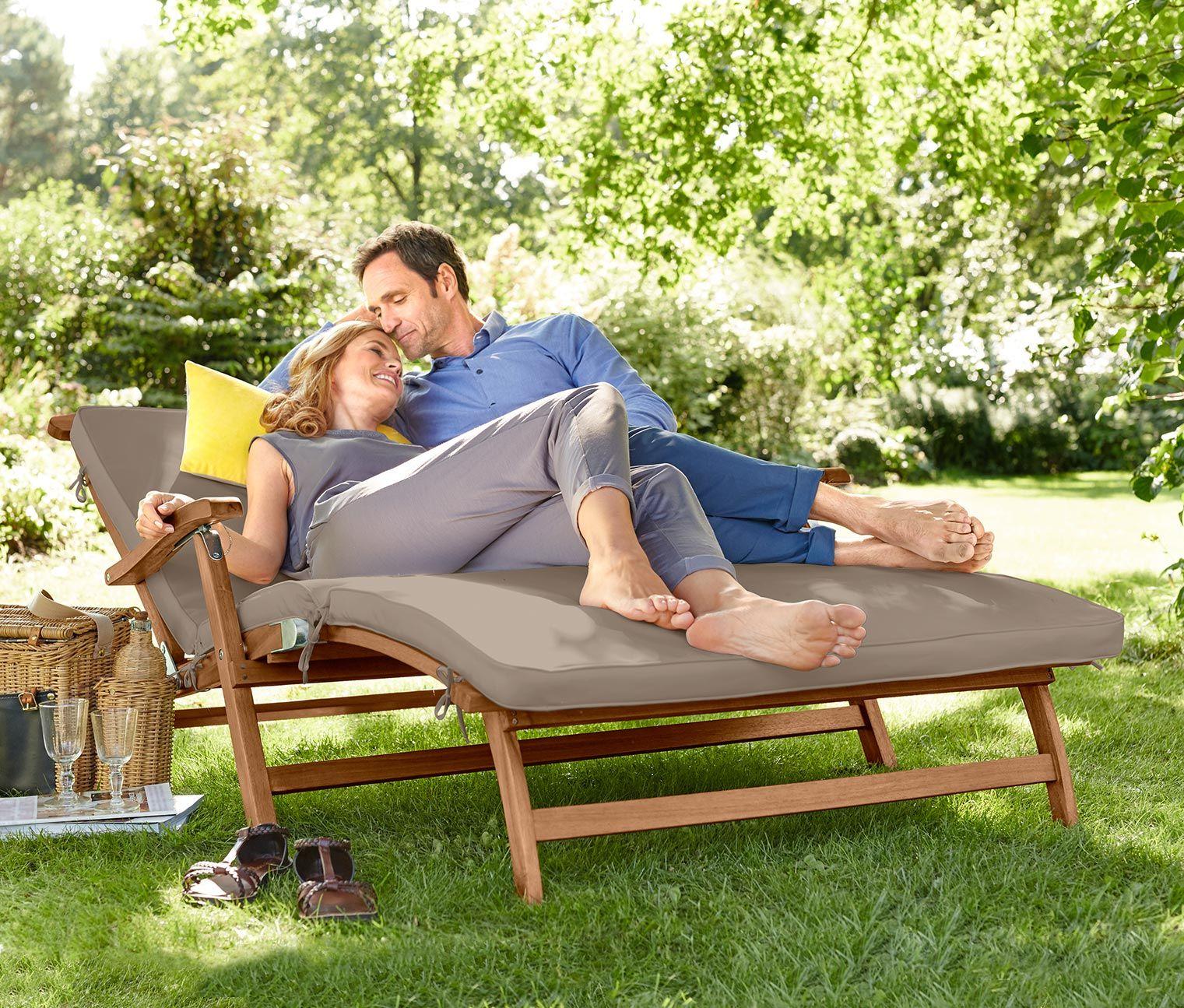 Deckchair Zweisitzer Mit Fussteil Tchibo Gartenmobel Deckchair Tchibo
