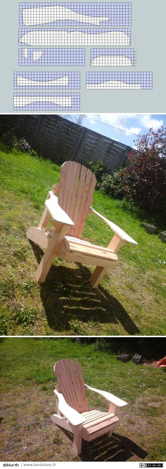 Coussin Pour Fauteuil Adirondack fauteuil adirondack par atelier du bois vert | fauteuil