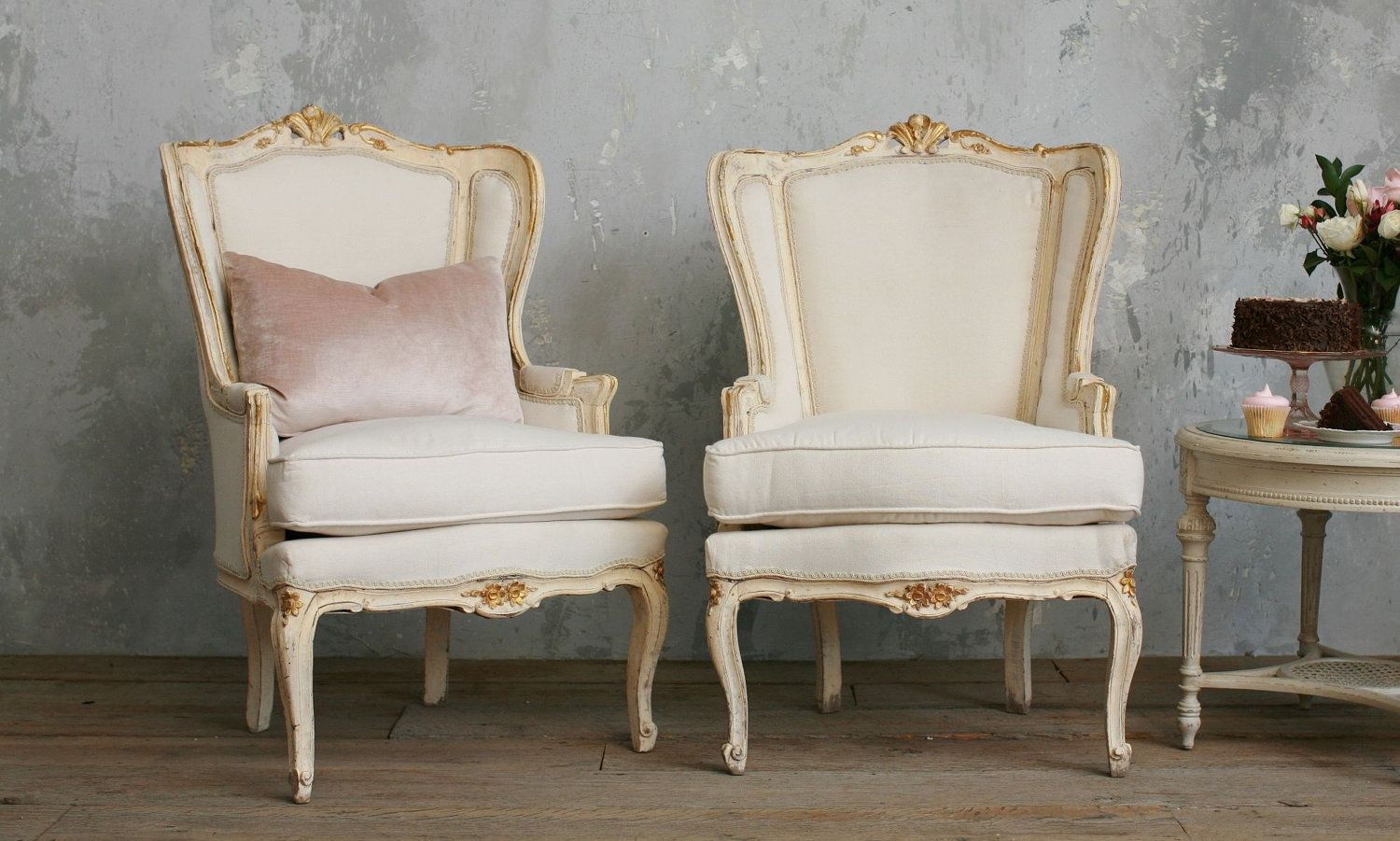 French Wingback Bergeres Vintage Louis Xv Chairs By Bohemiennes 2 800 00 Home Decor Home Pretty Furniture