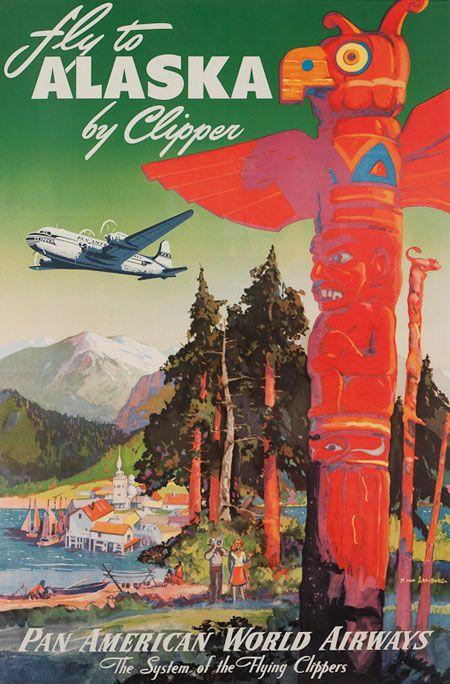 fly TWA SWITZERLAND vintage travel poster HAT CLOCKTOWER collectors 24X36