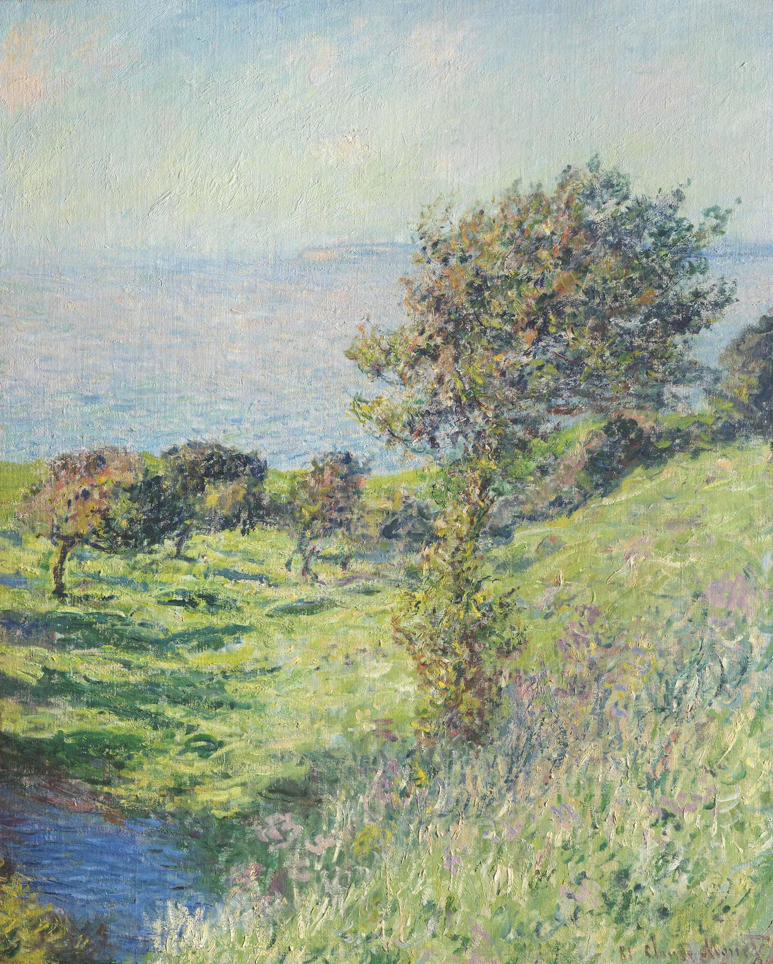 Claude Monet (1840-1926) | Coup de vent | 19th Century, late 19th Century |  Christie's | Пейзажи, Импрессионизм, Живопись