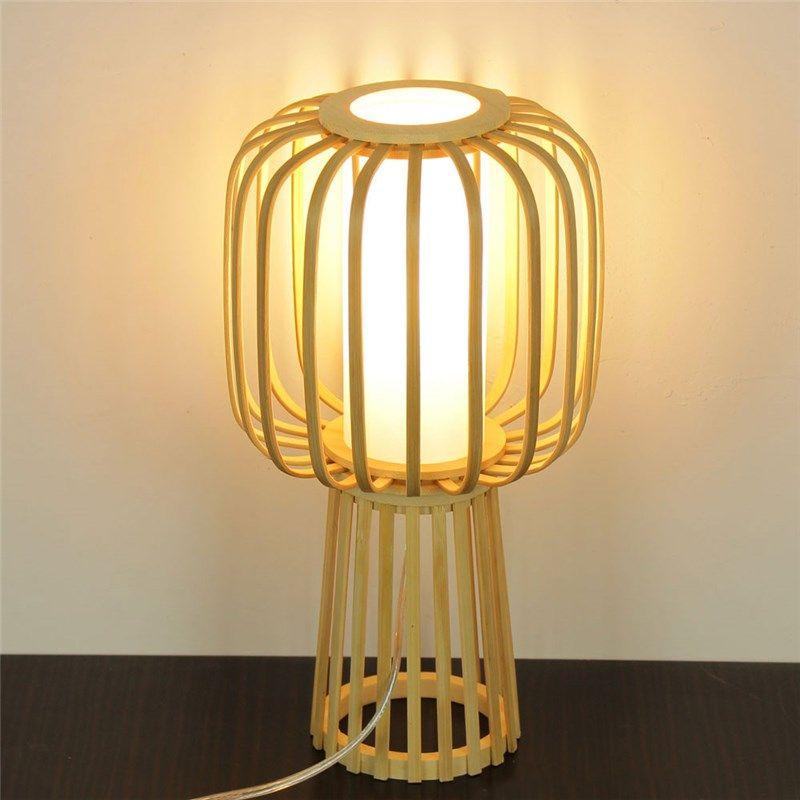 Hand Woven Bamboo Table Lamp Modern Simple Desk Lamp Japanese Style Lighting Modern Table Lamp Simple Lighting Simple Desk