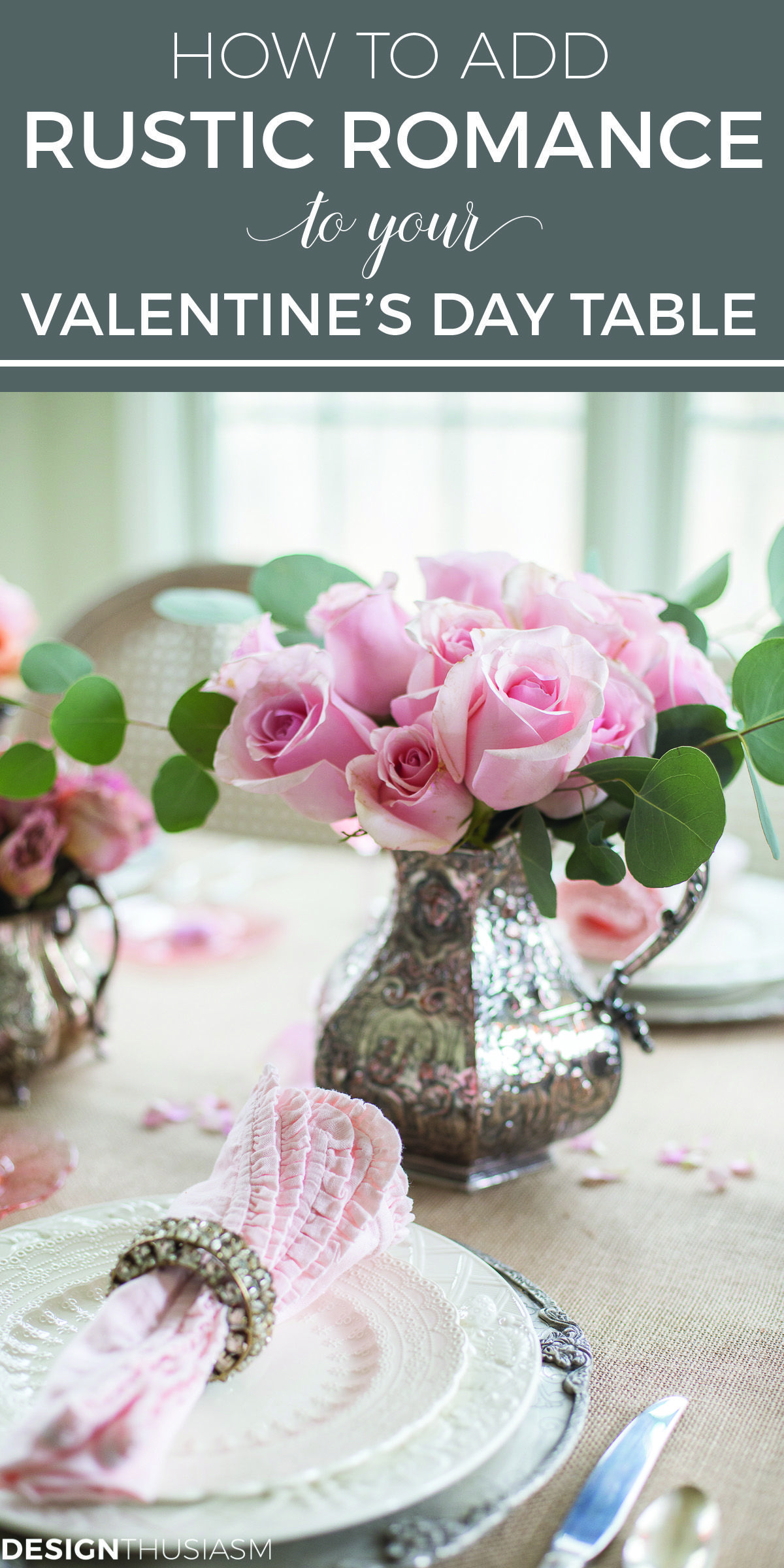 how to add rustic romance to your valentine s day table setting rh pinterest com