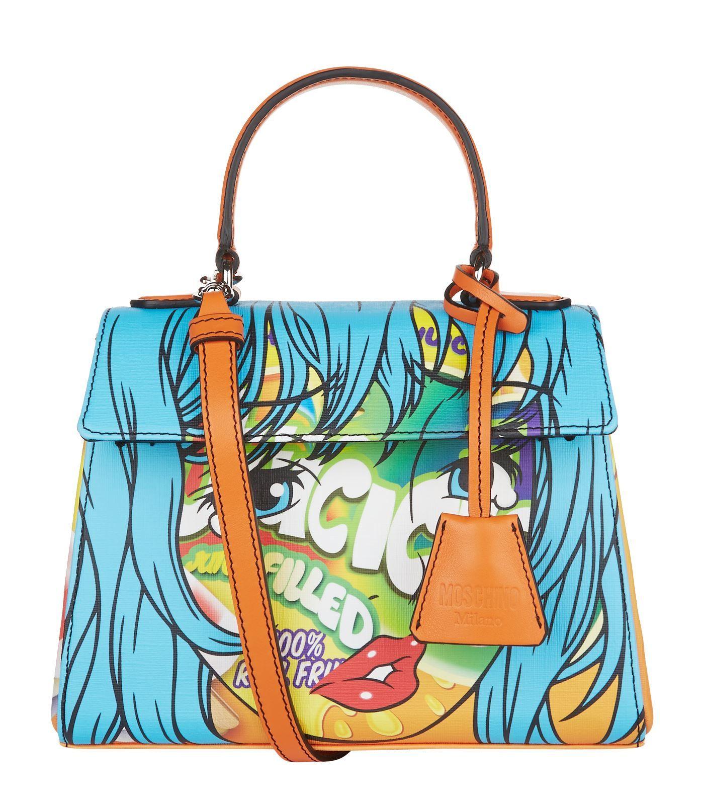 57e5029121 Moschino Leather Fantasy Print Shoulder Bag at Harrods. Shop online at  harrods.com   earn reward points.