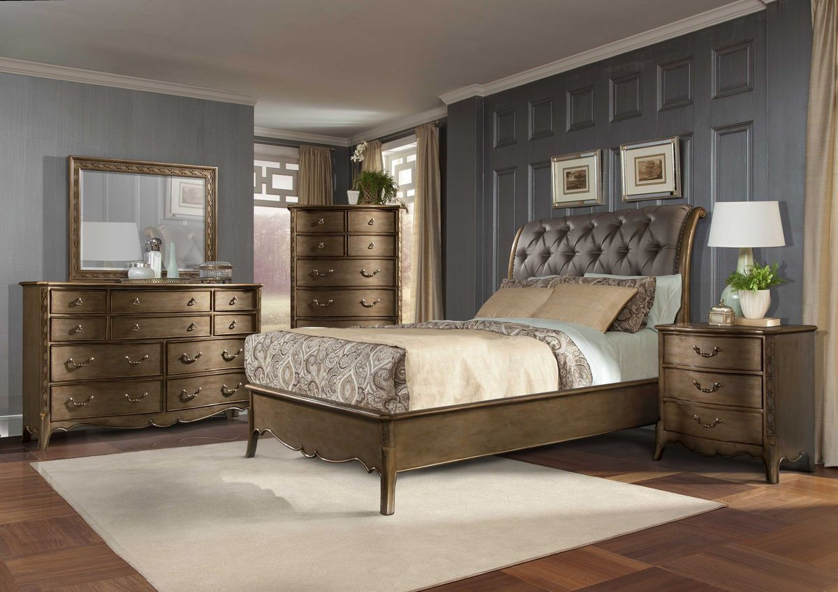 Queen Bedroom Set 5 Pc Set Chambord
