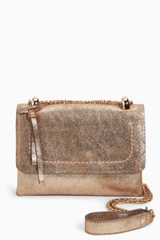 67aedc3997 Buy Gold Mini Leather Across-The-Body Bag from the Next UK online ...