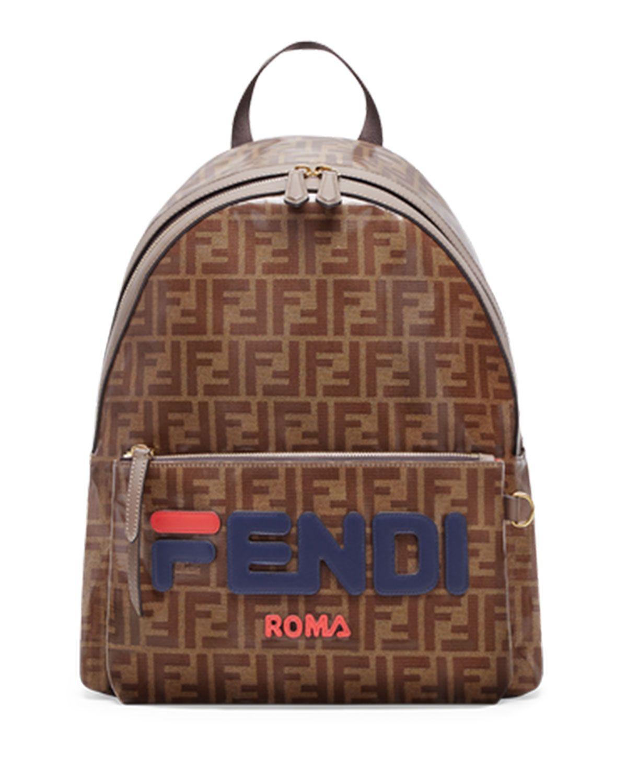 0dae035274 FENDI MEN S FENDI MANIA COATED CANVAS BACKPACK.  fendi  bags  leather   canvas  backpacks