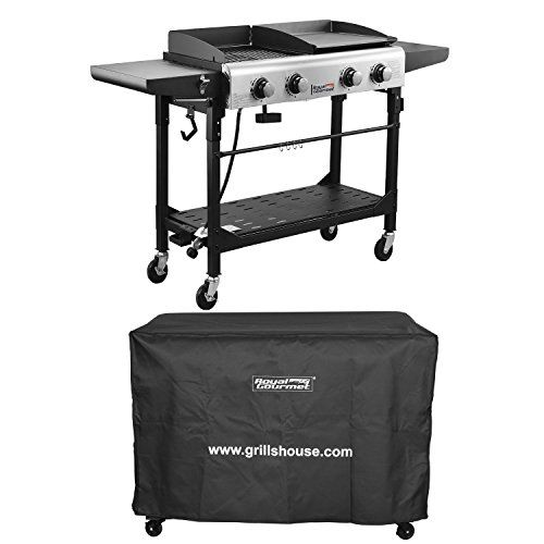 Royal Gourmet Premium Outdoor 4burner Propane Gas Grill And Griddle With Cover You Can Get Additional Details Outdoor Cooking Propane Gas Grill Outdoor Grill