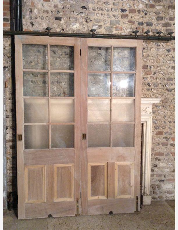 727 Sliding Victorian Half Glazed Room Dividers Room