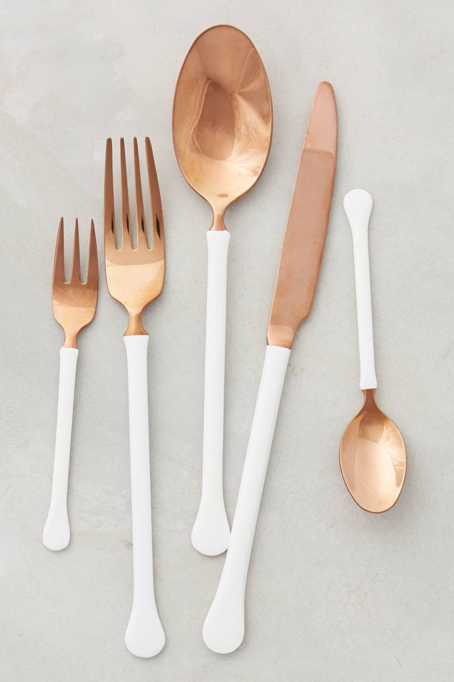 Copper Top Kitchen Table Copper Top Flatware Copper Pastel And Design