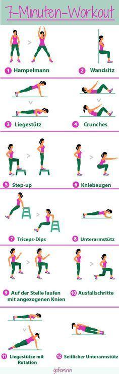 Das 7-Minuten-Workout gilt als DIE Geheimwaffe für einen straffen Körper! #yogaypilates
